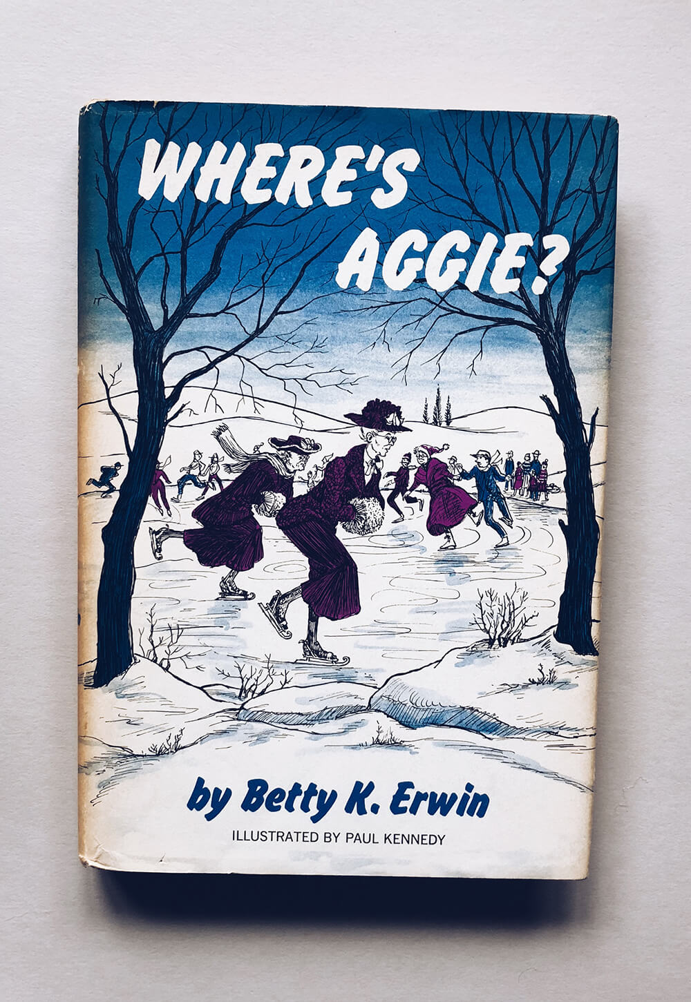 "Cover and illustrations for ""Where's Aggie?"" by Betty K. Erwin; Vintage children's book on Dover Books"