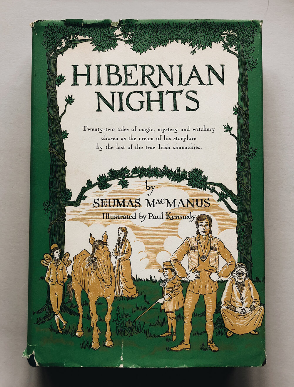 "Cover and illustrations for ""Hibernian Nights"" by Seumas Mac Manus; Vintage children's book on Dover Books"