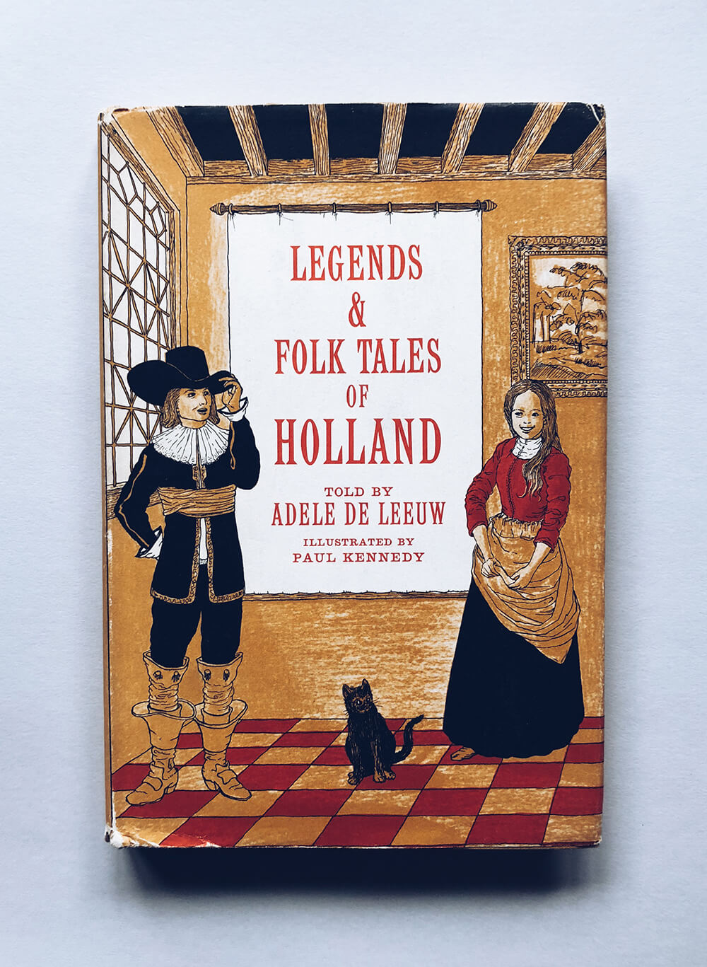 "Cover and illustrations for ""Legends & Folk Tales of Holland"" told by Adele De Leeuw; Vintage children's book on Dover Books"
