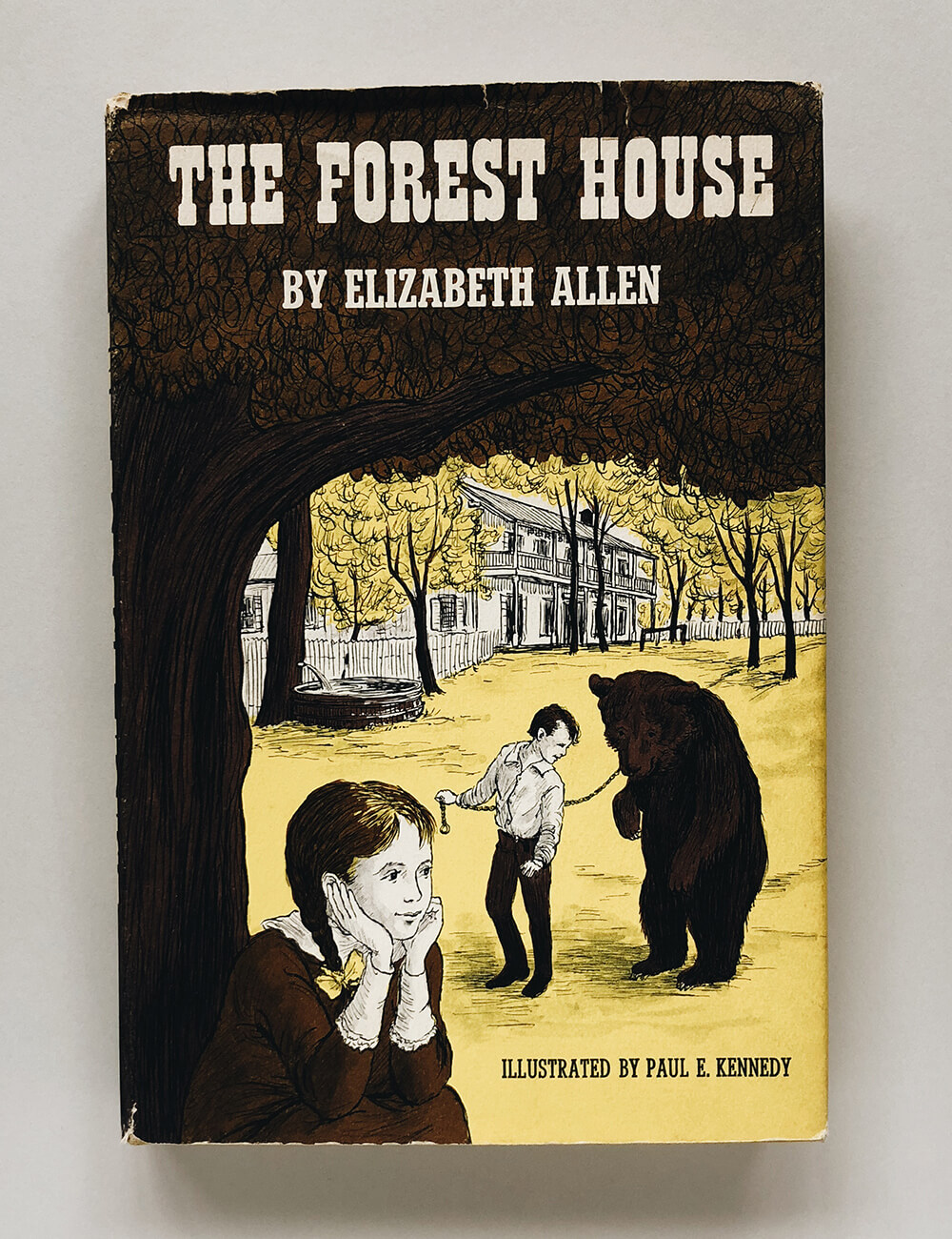 "Cover and illustrations for ""The Forest House"" by Elizabeth Allen; Vintage children's book on Dover Books"